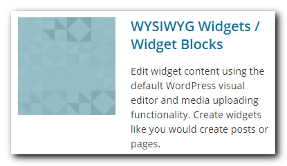 WYSIWYG Blocks WordPress plugin