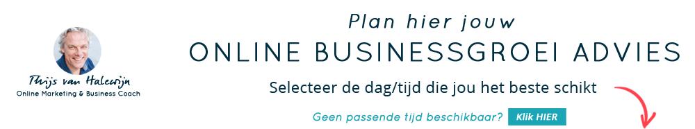 Online Businessgroei Advies met Thijs van Halewijn