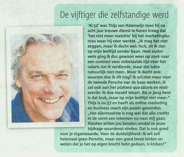 Thijs van Halewijn, interview Metronieuws over ondernemerschap